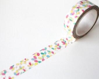 Floral Pastel washi tape/ Pink Flower Planner tape/ Watercolour washi tape