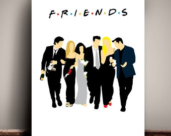 Friends // The One with Monica and Chandler's Wedding // Minimalist TV Poster // Unique Art Print