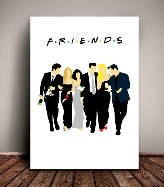 Friends // The One with Monica and Chandler's Wedding // Minimalist TV Poster // Unique A4 / A3 Art Print