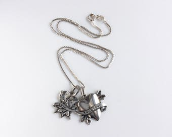 Tattoo Style Sterling Luck & Love Charms