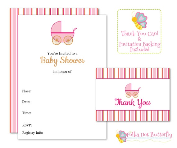 blank baby shower invitation fill in invitation baby girl invitation