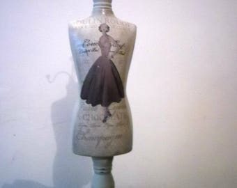 Jewellery Mannequin XL China Moulin Rouge Vintage Shabby Chic