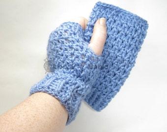 Winter Fingerless Gloves, Texting Gloves, Crochet Mittens, Crochet Gloves, Wrist Warmers, Crochet Wristlets, Hand Warmers, Women's Gloves
