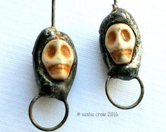 Headpins - Skulls / Halloween - Day of the Dead - 1 pair