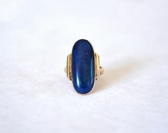 14kt Yellow Gold & Lapis Ring