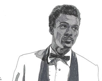 Chuck Berry hand-drawn drawing / painting