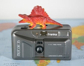 Franka Motor 35 Compact Grey 35mm Camera with Flash #PS75