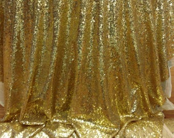 Glitz Sequin Fabric, 52 wide, sold by the yard,GOld color,