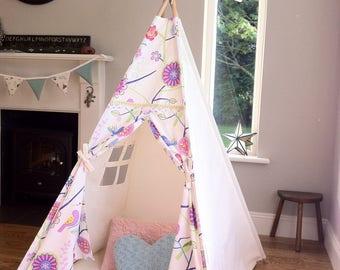 Kids Teepee / wigwam / play tent with poles option