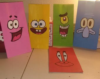 Spongebob and friends goody bags