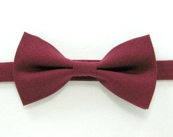 Burgundy bow tie,Wedding bow tie  for Men,Toddlers ,Boys,baby