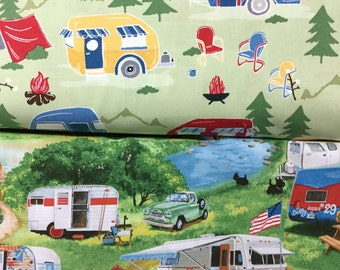 Camper fabric by Timeless Treasure and Elizabeth Studio