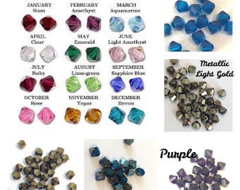 4mm Bead Add-On, Birthstone Charm