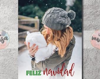 TARJETA de NAVIDAD | {Foto} {Feliz Navidad} {Imprimible}