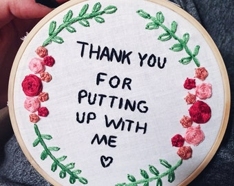 Thank You Embroidery Hoop