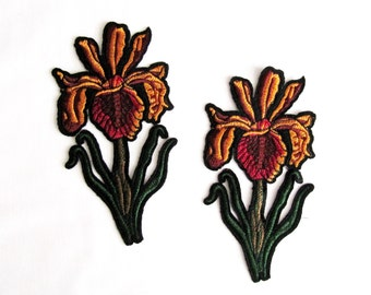 Snapdragon flower/ 2PCS.Embroidered  Flowers / Patches Appliques/ sew on patches/