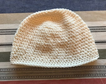 Women's winter hat, cream