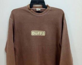 Vintage DuFFS skateboarding street fashion sweatshirt size L