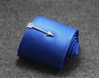 silver arrow  tie clip man tie clip wedding tie clip