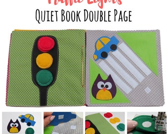 Quiet Book Pattern PDF|Traffic Lights Quiet Book| Quiet Book Tutorial|Full Tutorial + How to bind the book|DIY Quiet Book| Busy Book|Sensory