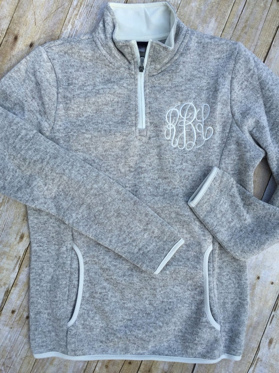 womens monogrammed pullover charles river quarter zip fleece