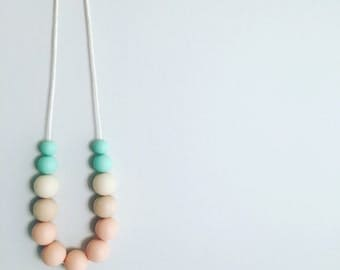 Pastel Princess - Silicone & Timber Necklace