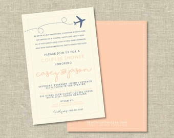 Honeymoon Shower/Travel Party Invitation Digital Download