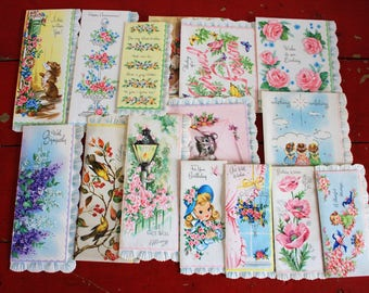 Lot of Greeting Cards Vintage Unused Assortment of Cards with envelops 16 total