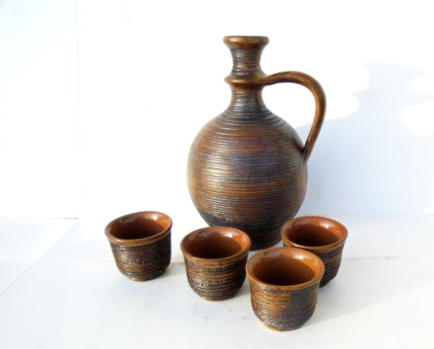 Clay Brandy Set Clay Ceramic Brandy Set Stone Jar With