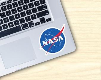"NASA Space Exploration Logo Vinyl Decal Sticker Small W 3.25"" X H 2.75"""