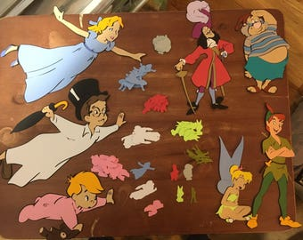 Set of 7 Peter Pan die cuts including 100 pieces of Peter Pan character table confetti