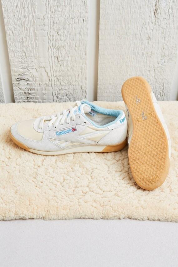 deac1bc345de 1980s Reebok White Low Top Leather Squash Shoe by SoftServeVintage 50%OFF