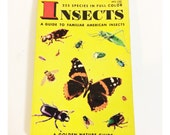 Vintage Insects Little Golden Book Pocket Reference Illustrated Guide