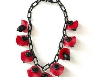 Vintage Plastic Novelty Necklace