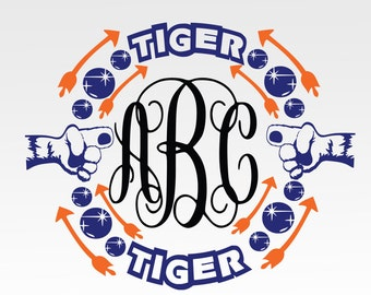 Tigers Paw Print,Tigers Paw,Tigers SVG, DXF, png, jpg digital cut file for Silhouette or Cricut