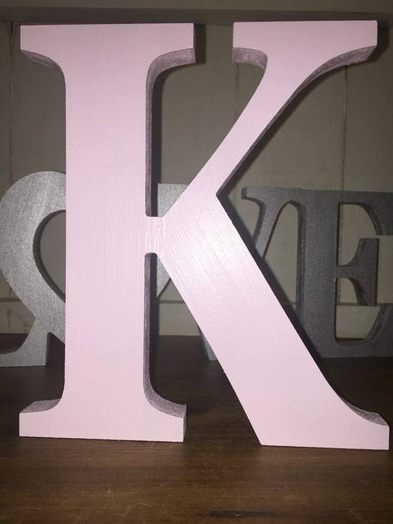 large wooden letters items similar to baby pink large letters painted wooden 22697 | il 570xN.1126586085 jnr6