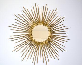 Mirror Chaty Vallauris AM signed Sun, miror,