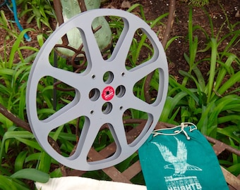 Movie Reel, AV, Audio Visual, Rocker, Hipster, Dude Find, Man Cave, 35 MM Movie, New Yorker Films, Metal Reel, Gray, Industrial, MaxsUnique