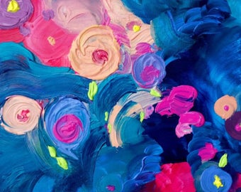 Dizzy Flowers Painting Print