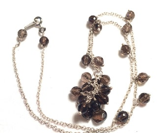 925 sterling silver necklace with gems