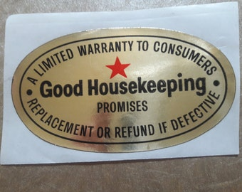 The Good Housekeeping Seal of Approval,- Sticker