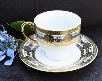 Demitasse Duo White and Gold Milano Collection - Fine Porcelain made in China