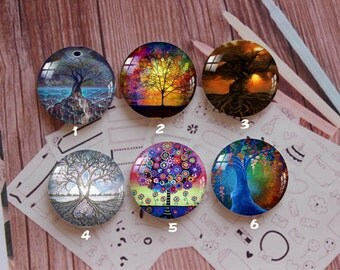 Handmade Round Photo glass Cabochons,8mm -58mm size Cute Animal Style Butterfly More-ZY867