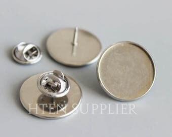 6pcs 100pcs Silver Tie Tack Blanks Wholesale Tie Tac