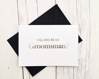 Be My Groomsman Card