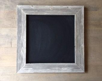 SALE***Large Square Chalkboard Frame 2ft x 2ft Distressed Barn Wood