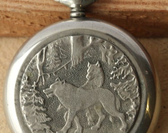 Vintage Molnija Soviet pocket watch 3602 Volves Collecting  Gift For father , husband , grandfather ж