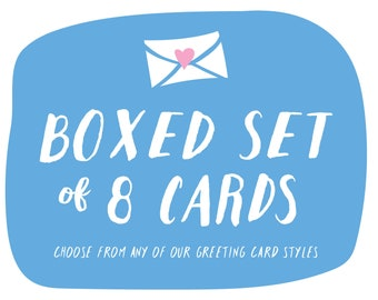 Boxed Set of 8 Cards