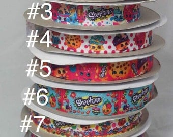 Shopkins Grosgrain Ribbon, Character Ribbon, Hairbow Ribbon