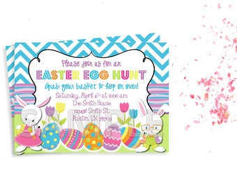 Easter Egg Hunt Invitation, Easter Party Invitation, Easter Birthday Party Invitation, Easter Invitation, Printable Easter Invitation